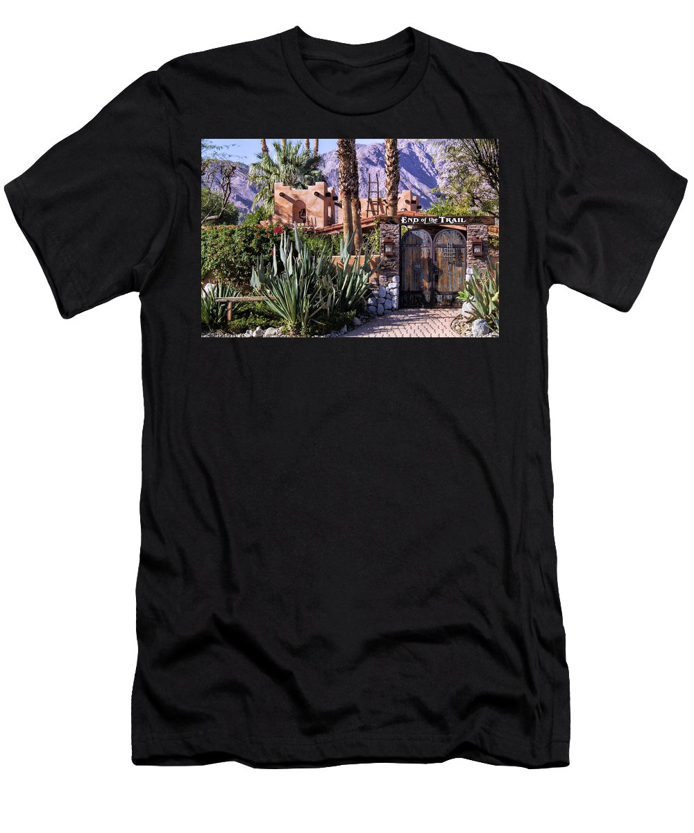 End Of The Trail Men's T-Shirt (Athletic Fit) featuring the photograph End Of The Trail by Dominic Piperata