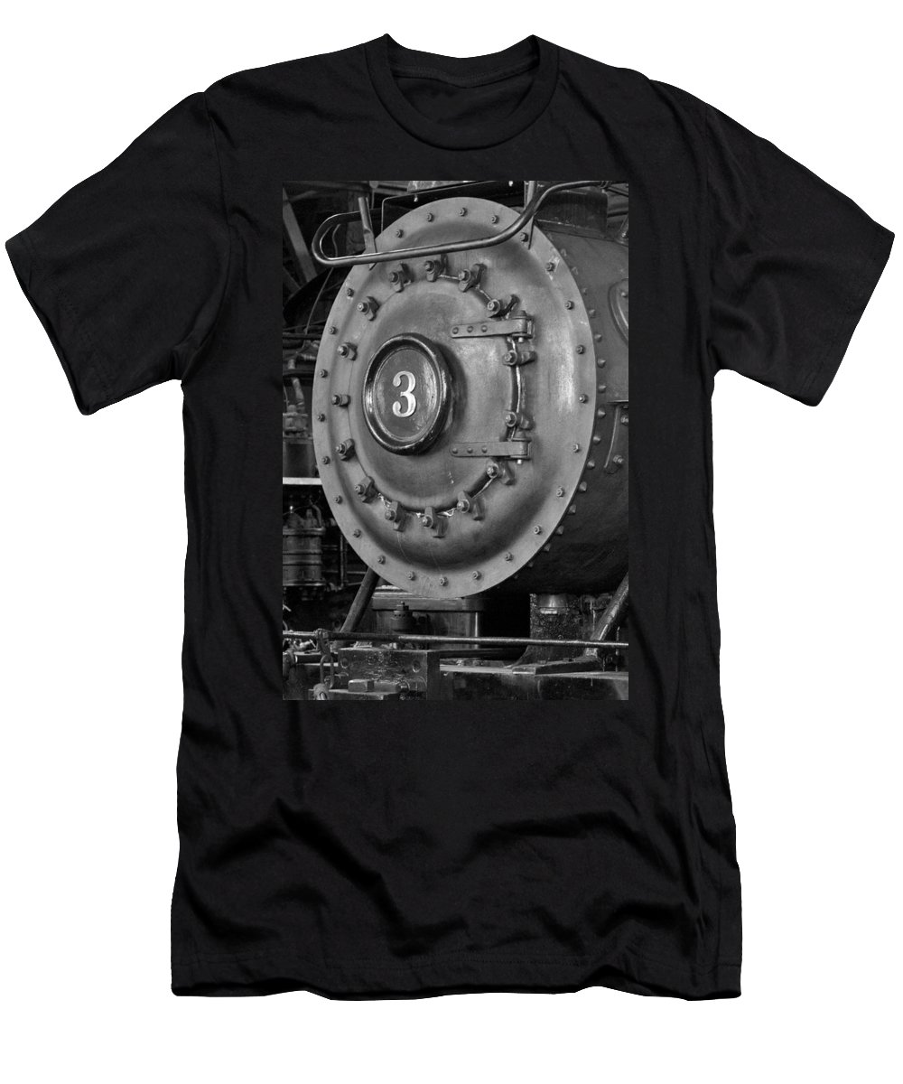 B&w Men's T-Shirt (Athletic Fit) featuring the photograph Engine Number 3 by David Beebe