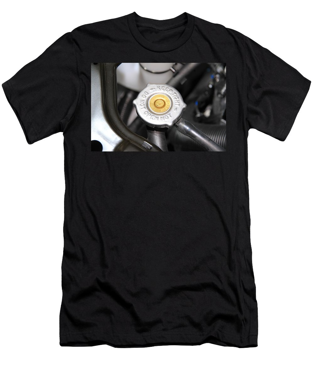 Fluid Men's T-Shirt (Athletic Fit) featuring the photograph Engine Valve by Valentino Visentini