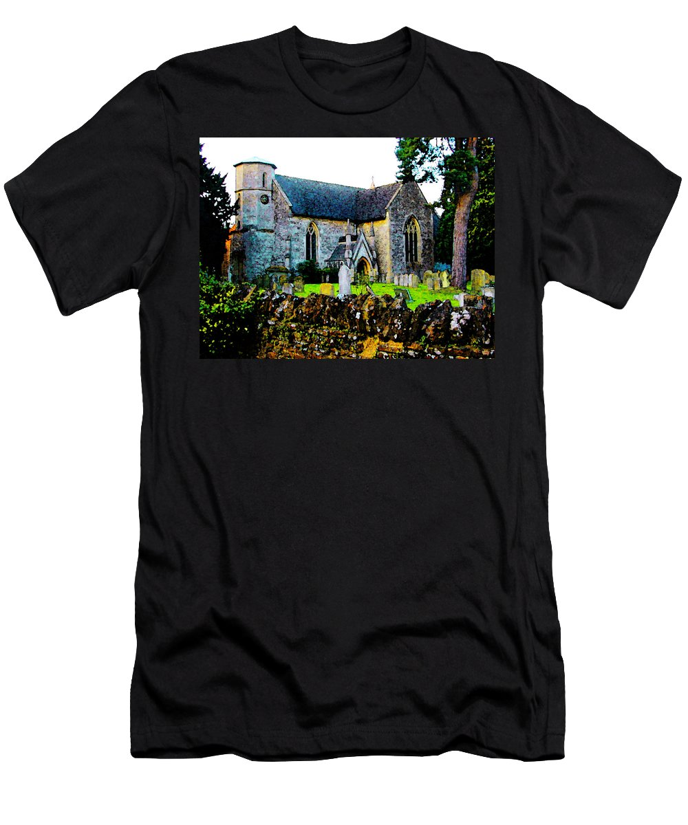 Expressive Men's T-Shirt (Athletic Fit) featuring the photograph English Churchyard by Lenore Senior