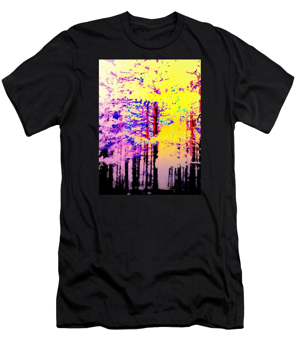 Tree Men's T-Shirt (Athletic Fit) featuring the photograph Enlightened Woods Are Here Again Ready To Surprise You by Hilde Widerberg
