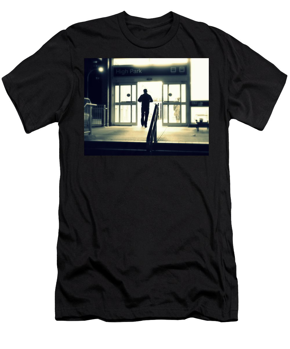 Enter Men's T-Shirt (Athletic Fit) featuring the photograph Entering A New Dimension by Valentino Visentini