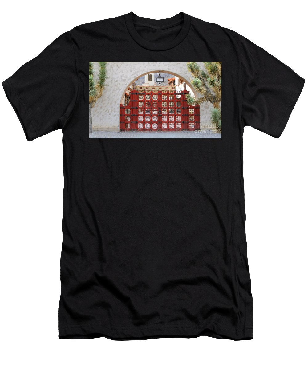 Gate Men's T-Shirt (Athletic Fit) featuring the photograph Entrance To Court Yard by Kathleen Struckle
