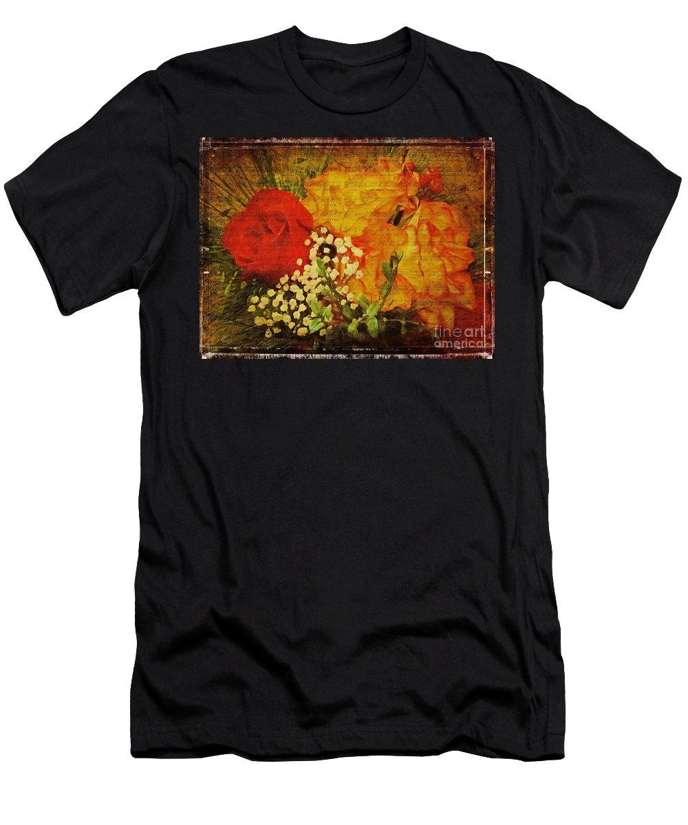 Flower Men's T-Shirt (Athletic Fit) featuring the digital art Envoi De Fleurs by Lianne Schneider