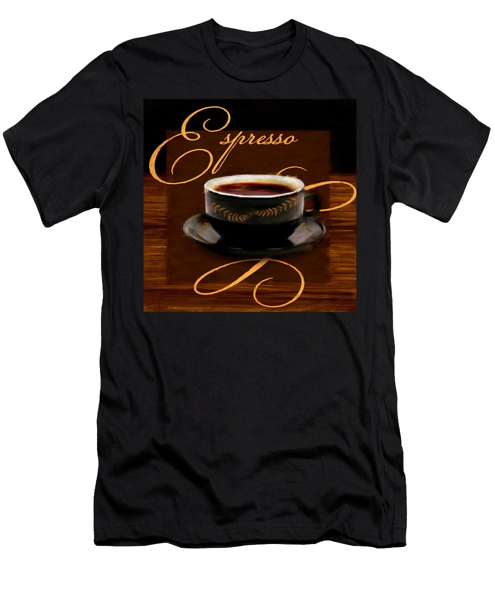 Coffee Men's T-Shirt (Athletic Fit) featuring the digital art Espresso Passion by Lourry Legarde