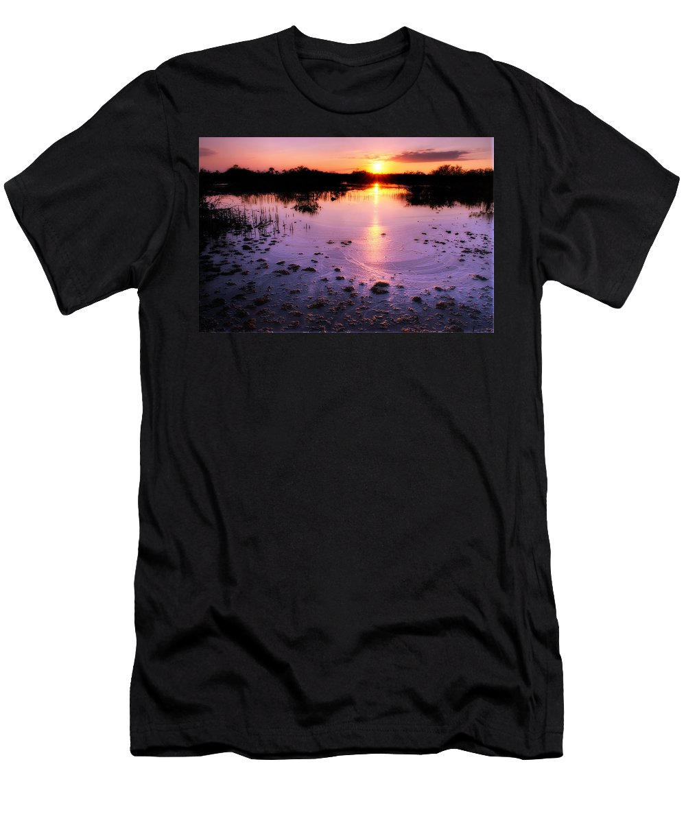 Background Men's T-Shirt (Athletic Fit) featuring the photograph Estero Bay Salt Marsh by Rich Leighton