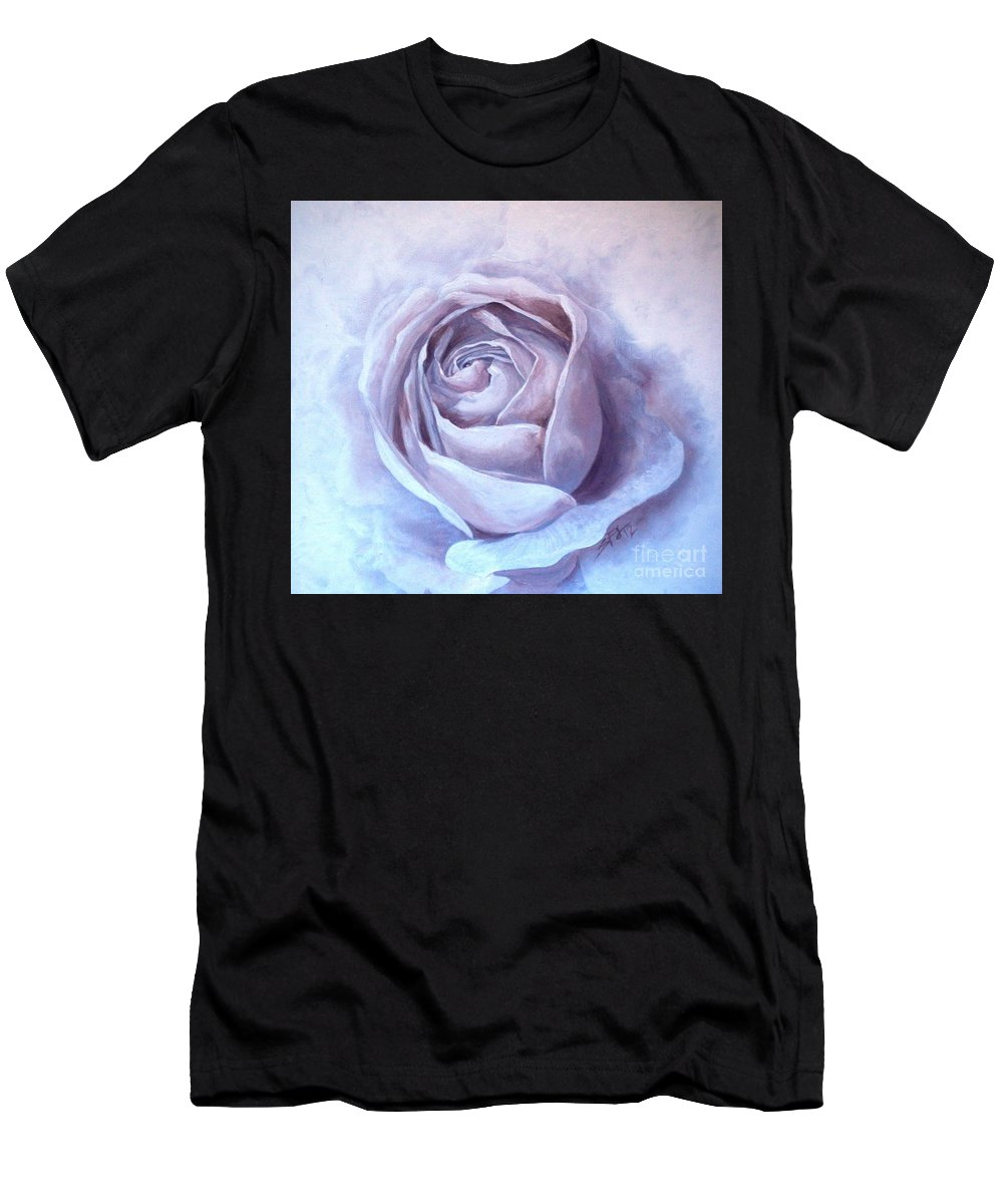 Rose Men's T-Shirt (Athletic Fit) featuring the painting Ethereal Rose by Sandra Phryce-Jones