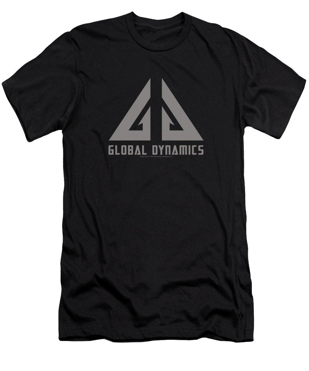 Eureka Men's T-Shirt (Athletic Fit) featuring the digital art Eureka - Global Dynamics Logo by Brand A