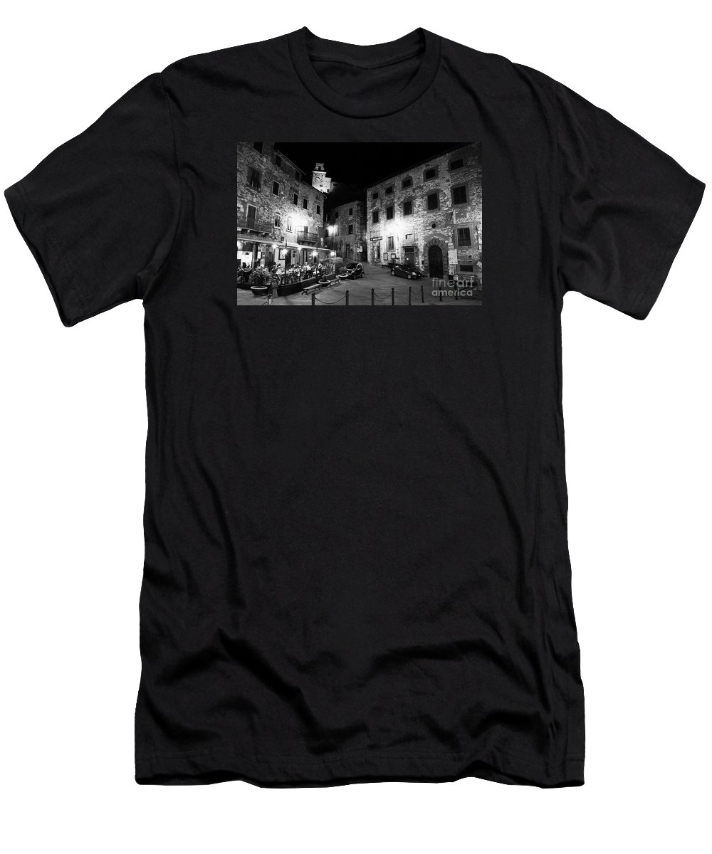 Tuscany Men's T-Shirt (Athletic Fit) featuring the photograph Evening In Tuscany by Ramona Matei