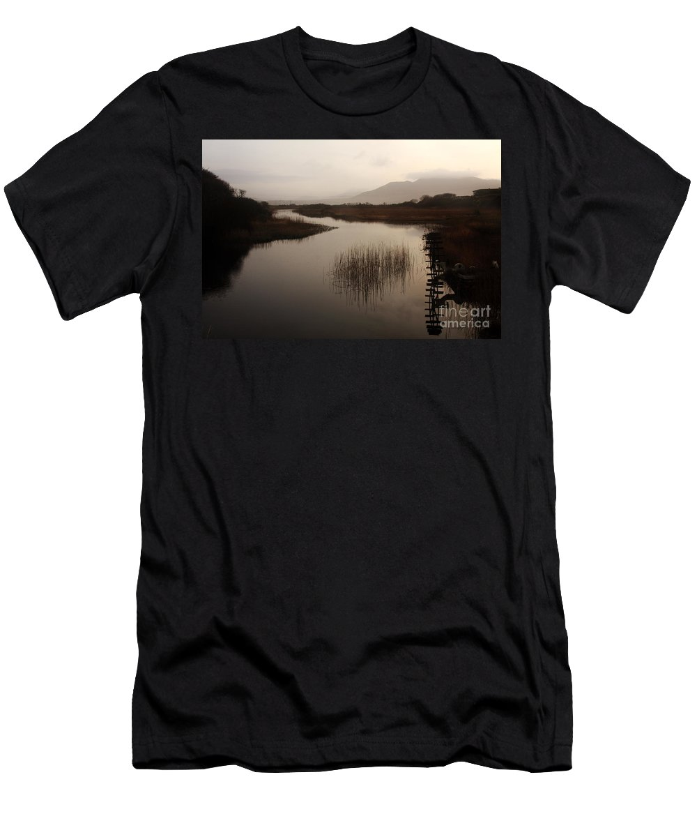 Ireland Men's T-Shirt (Athletic Fit) featuring the photograph Evening River Scene by Aidan Moran