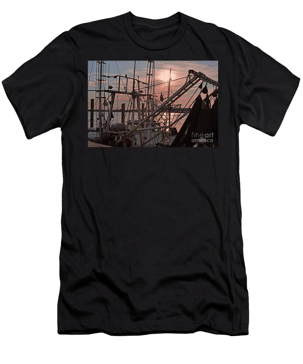 St. Johns River Men's T-Shirt (Athletic Fit) featuring the photograph Evening Time On The St. Johns River by Lydia Holly