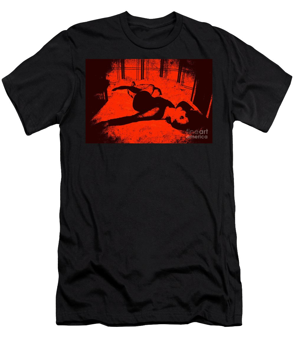 Black Men's T-Shirt (Athletic Fit) featuring the photograph Everythings Fucked by Jessica Shelton