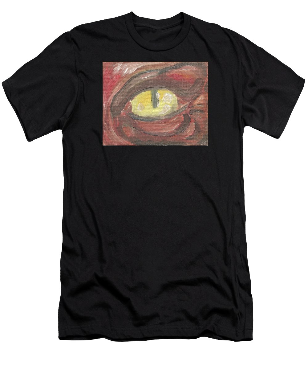 Eye Men's T-Shirt (Athletic Fit) featuring the painting Evil Eye by Jeffrey Oleniacz