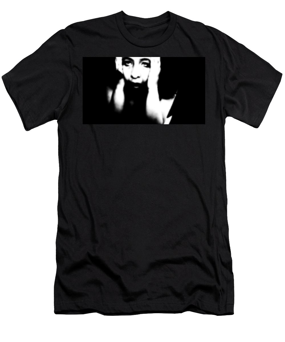 Black Men's T-Shirt (Athletic Fit) featuring the photograph Exhausted by Jessica Shelton