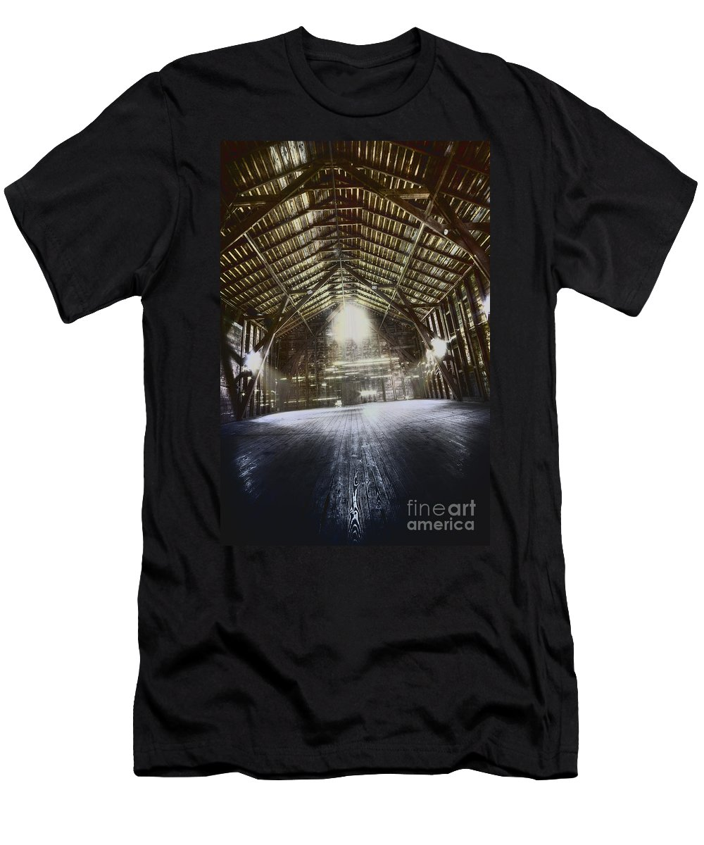 Barn Men's T-Shirt (Athletic Fit) featuring the photograph Expanse by Margie Hurwich
