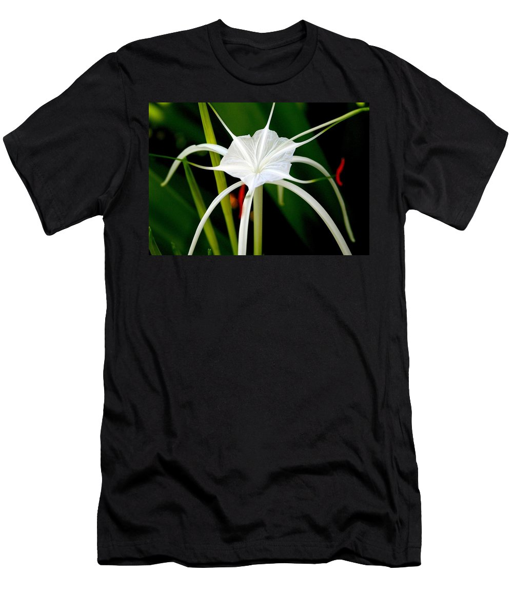 Spider Lily Men's T-Shirt (Athletic Fit) featuring the photograph Exquisite Spider Lily by Laurel Talabere