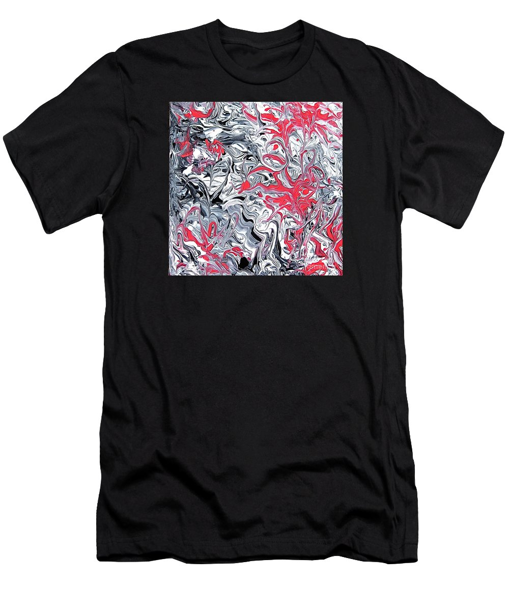 Red Men's T-Shirt (Athletic Fit) featuring the painting Extra Extra by Marilyn Healey