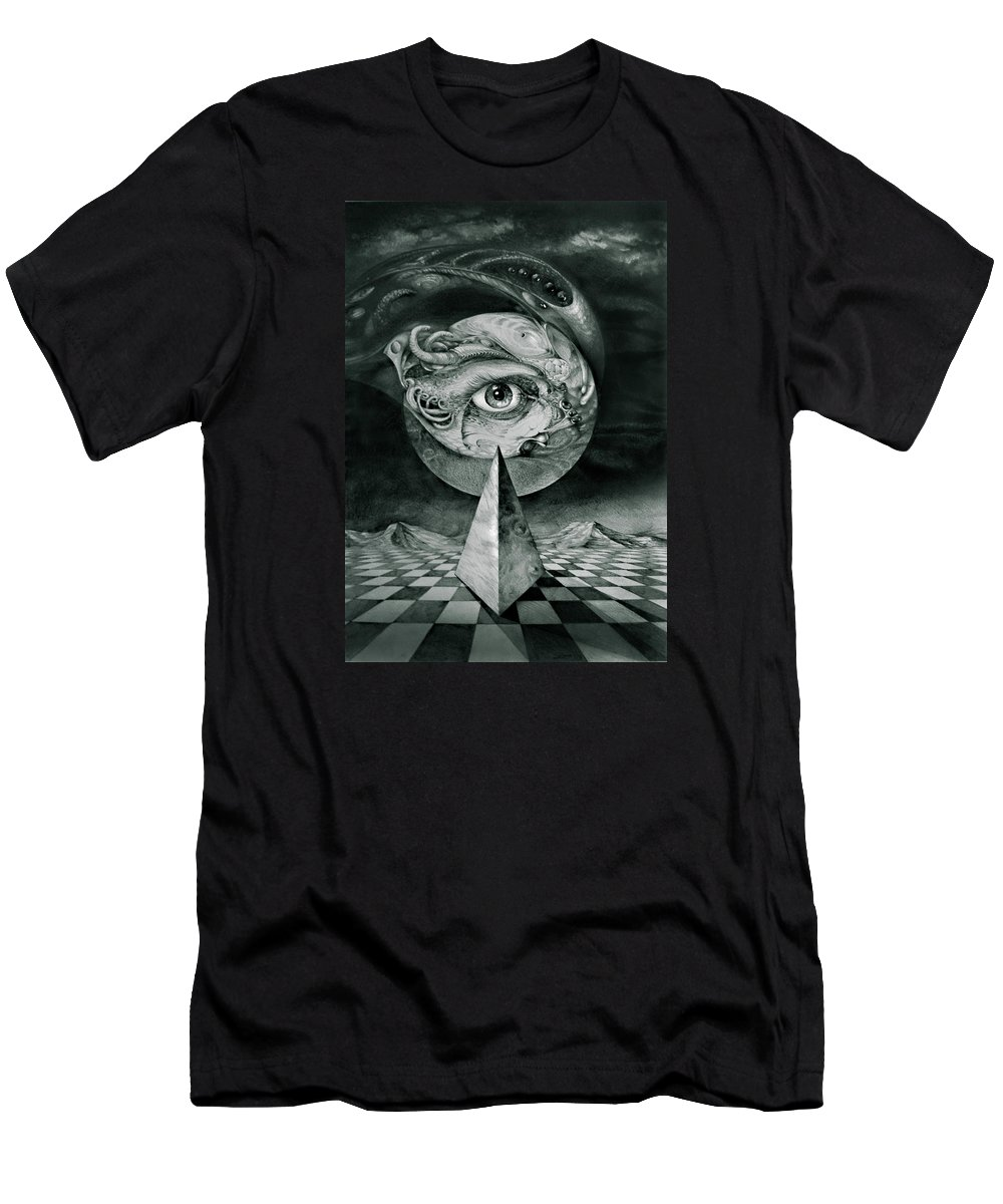otto Rapp Surrealism T-Shirt featuring the drawing Eye Of The Dark Star by Otto Rapp