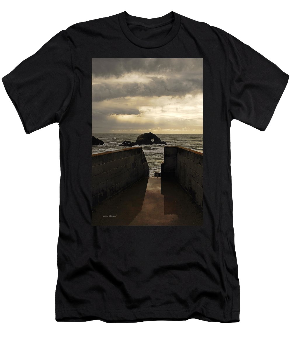 Clouds Men's T-Shirt (Athletic Fit) featuring the photograph Eye Of The Storm by Donna Blackhall