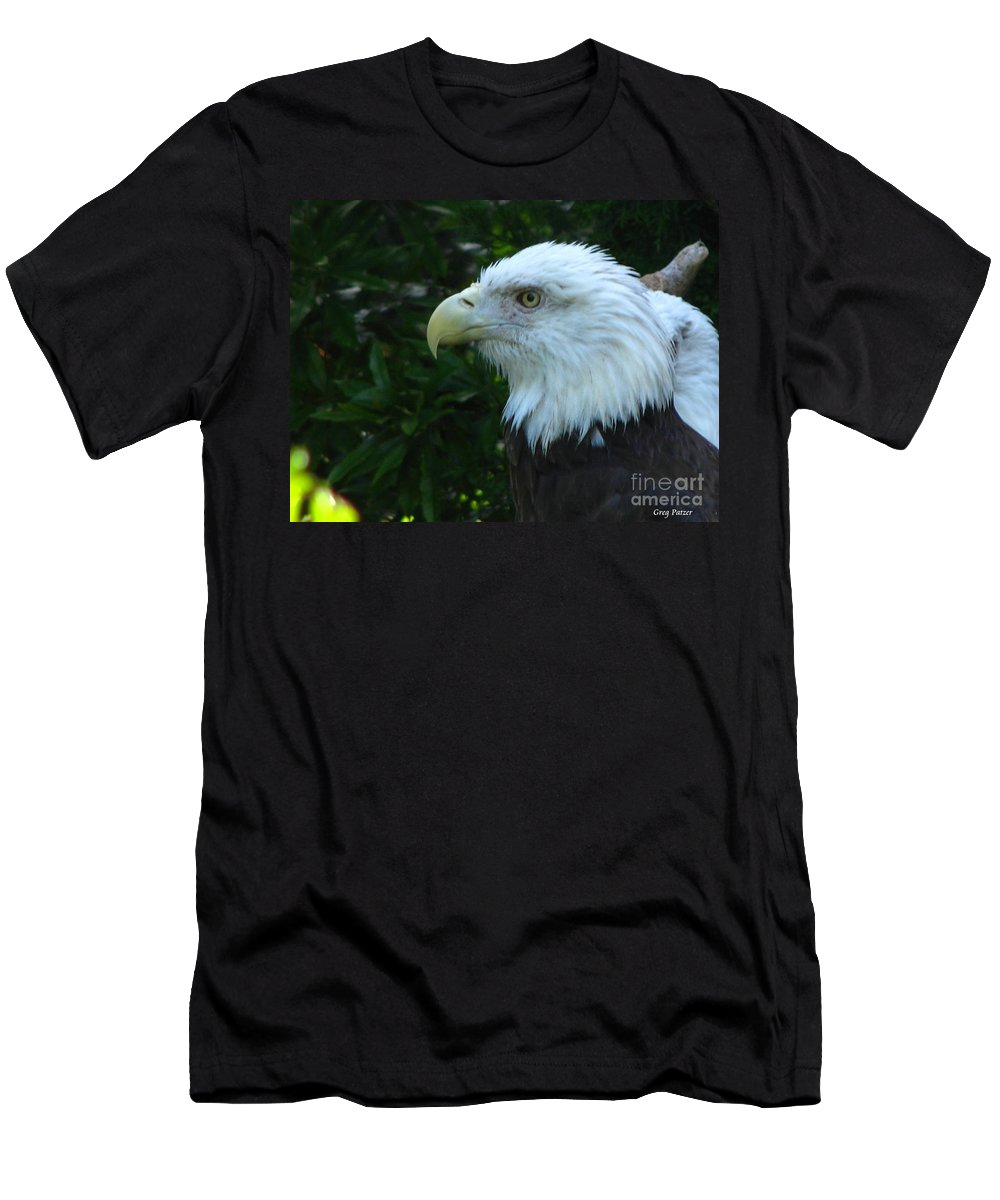 Eagle Men's T-Shirt (Athletic Fit) featuring the photograph Eyecon by Greg Patzer