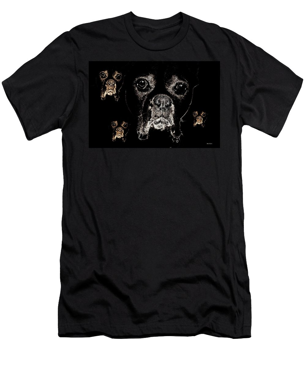Eyes Men's T-Shirt (Athletic Fit) featuring the digital art Eyes In The Dark by Maria Urso