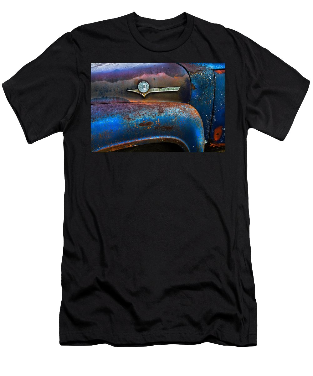 Appalachia Men's T-Shirt (Athletic Fit) featuring the photograph F-100 Ford by Debra and Dave Vanderlaan