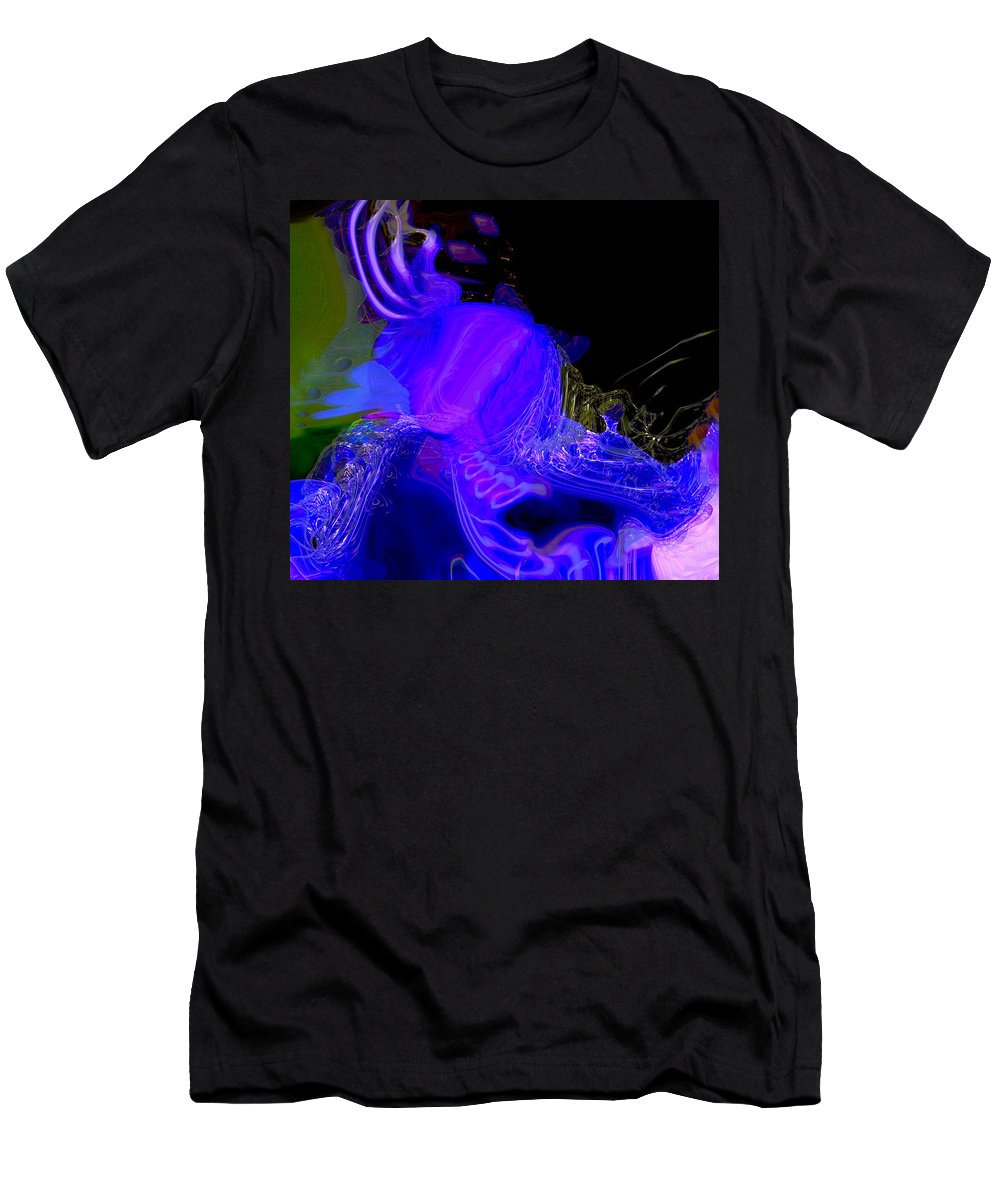 Abstract Men's T-Shirt (Athletic Fit) featuring the digital art Fabrication Unit At Vector 7359 by Richard Thomas