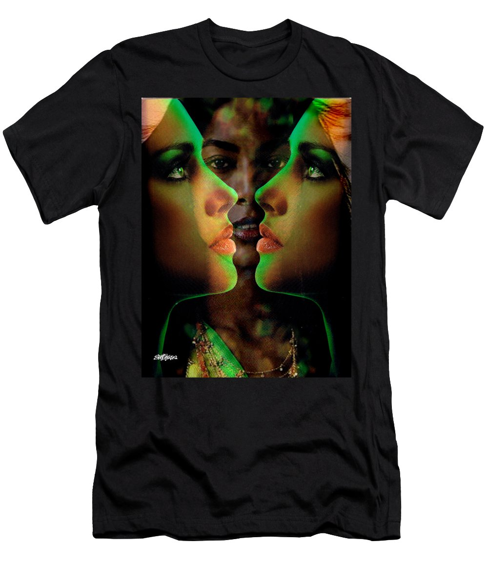 Women Men's T-Shirt (Athletic Fit) featuring the digital art Face 2 Face by Seth Weaver