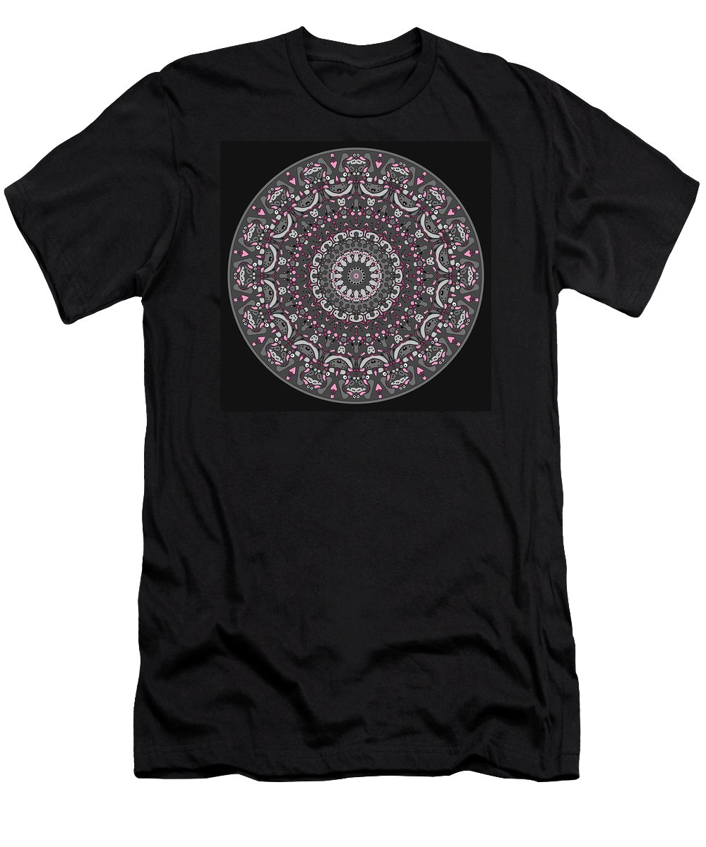 Mandala Men's T-Shirt (Athletic Fit) featuring the digital art Faded Cedar No. 1 Mandala by Joy McKenzie