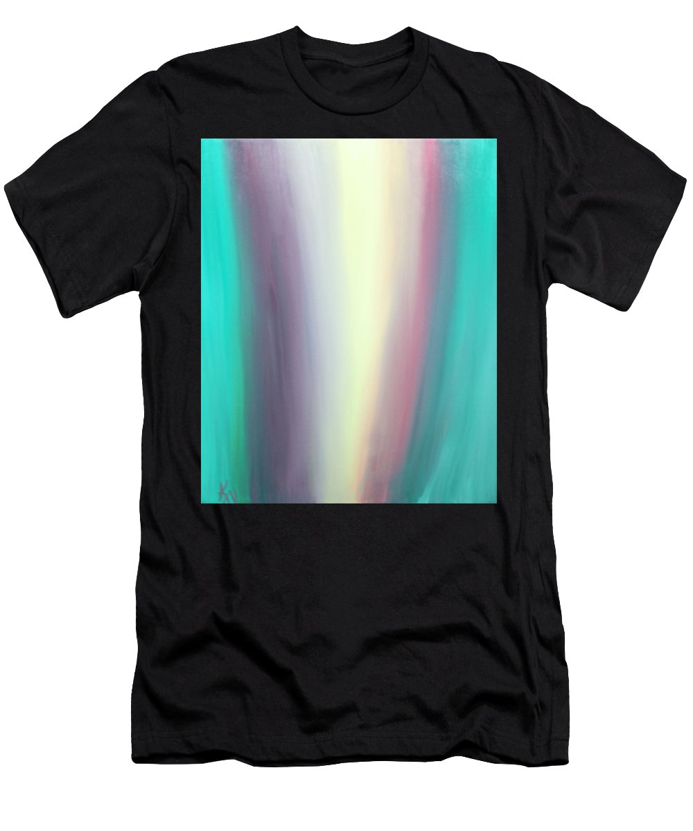 Oils Men's T-Shirt (Athletic Fit) featuring the painting Flowing by Karen Nicholson