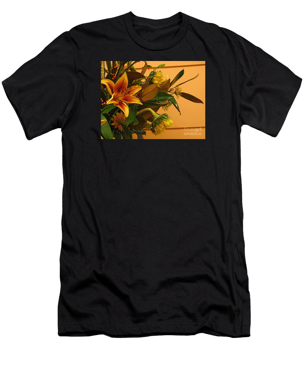 Flowers Men's T-Shirt (Athletic Fit) featuring the photograph Fall Bouquet by Ann Horn
