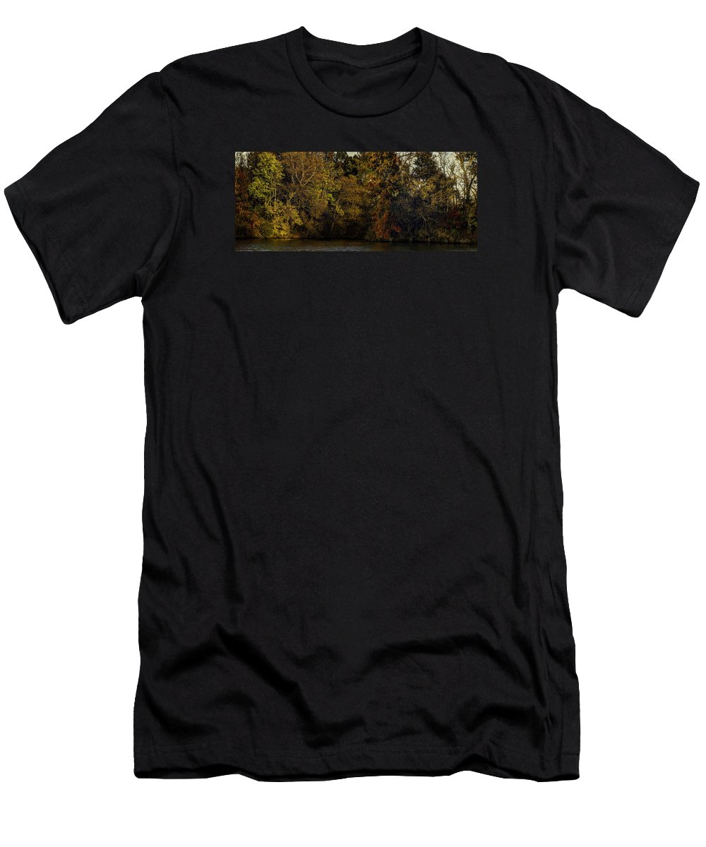 Fall Men's T-Shirt (Athletic Fit) featuring the photograph Fall Color Trees V9 Pano by John Straton