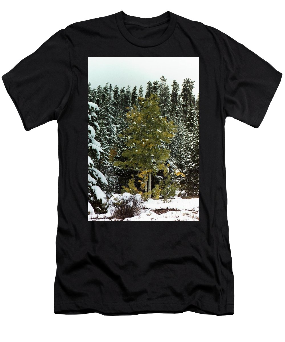 Fall Men's T-Shirt (Athletic Fit) featuring the photograph Fall Into Winter by Brandi Maher