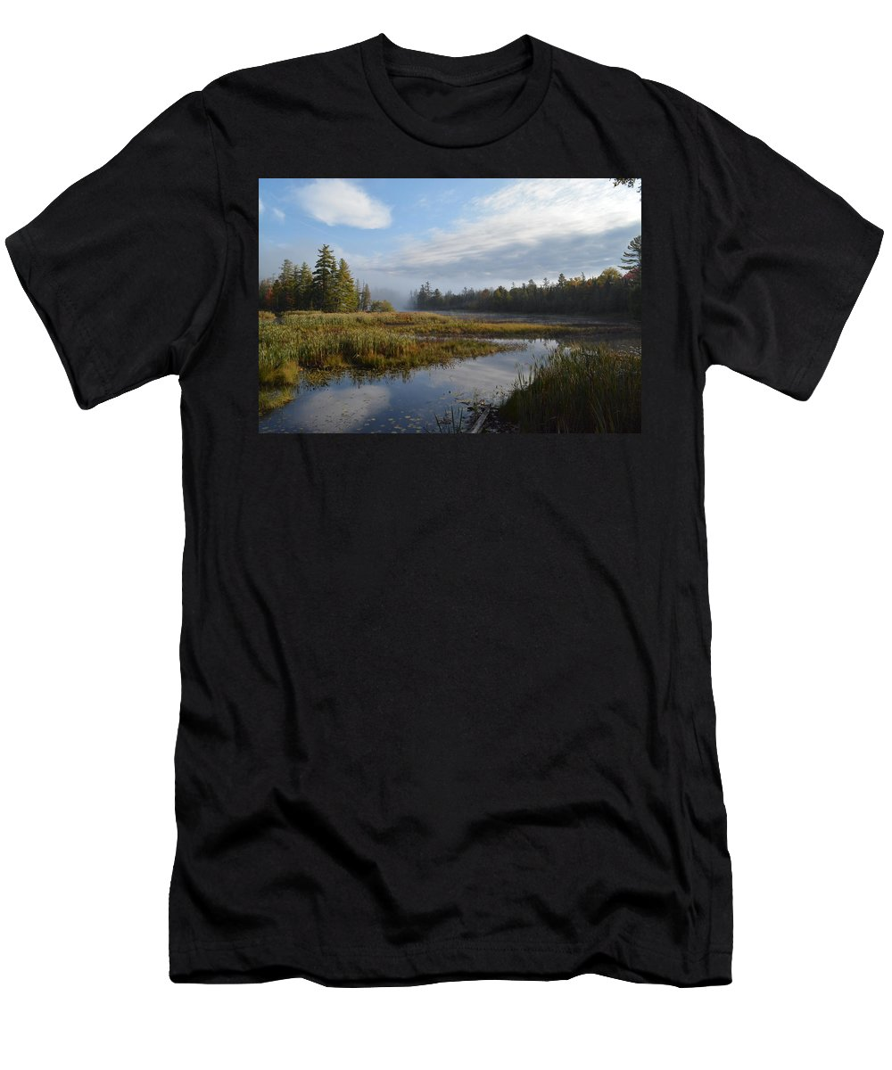 Sun Men's T-Shirt (Athletic Fit) featuring the photograph Fall Light by Thomas Phillips