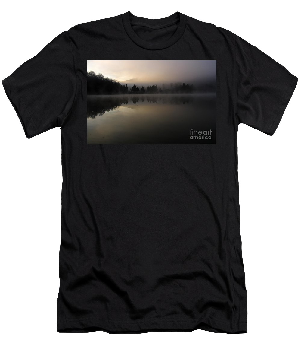 Lake Men's T-Shirt (Athletic Fit) featuring the photograph Fall On Melton Hill Lake Vi by Douglas Stucky