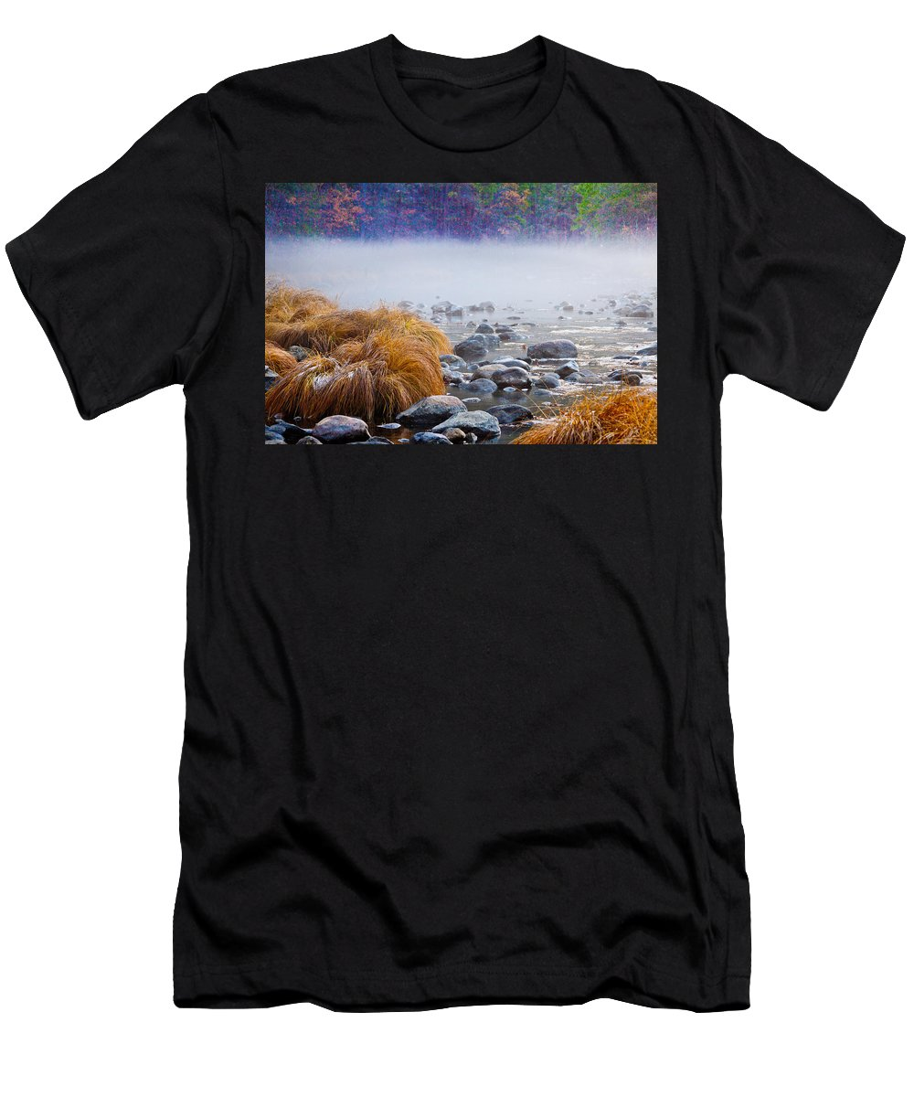 Fall Men's T-Shirt (Athletic Fit) featuring the photograph Fall On The Merced by Bill Gallagher