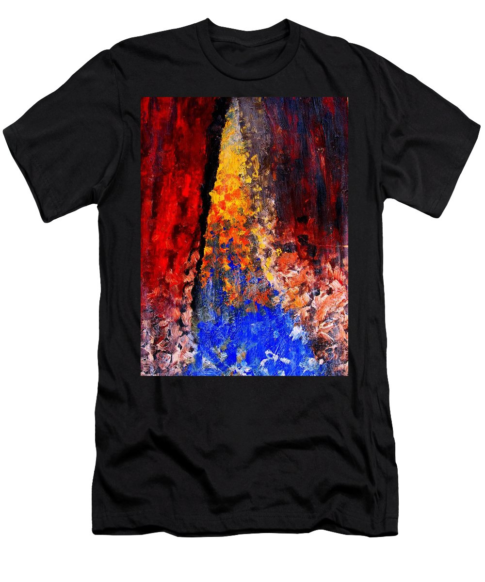 Abstract Men's T-Shirt (Athletic Fit) featuring the painting Falling by Ian MacDonald