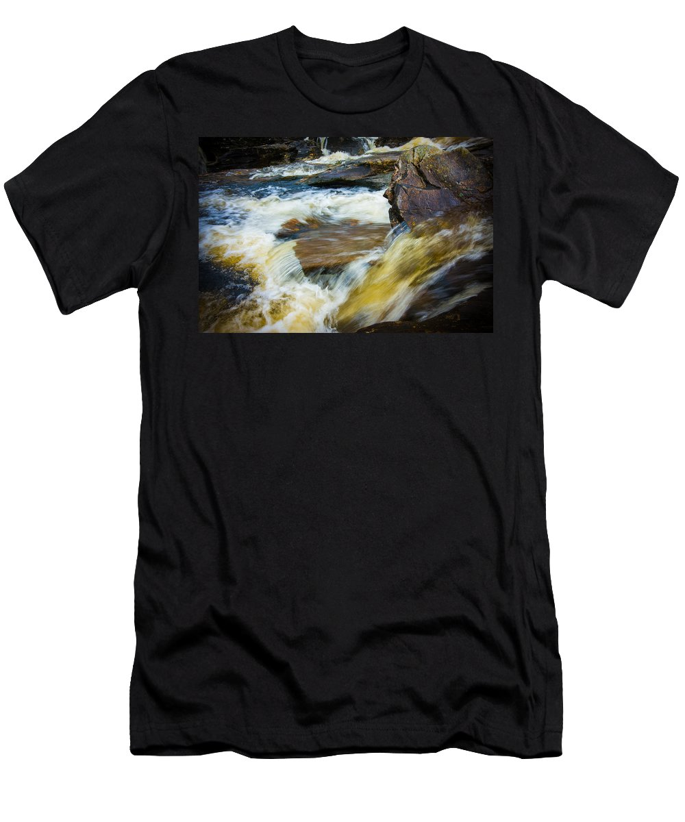 Branch Men's T-Shirt (Athletic Fit) featuring the photograph Falls Of Dochart Scotland by Mark Llewellyn