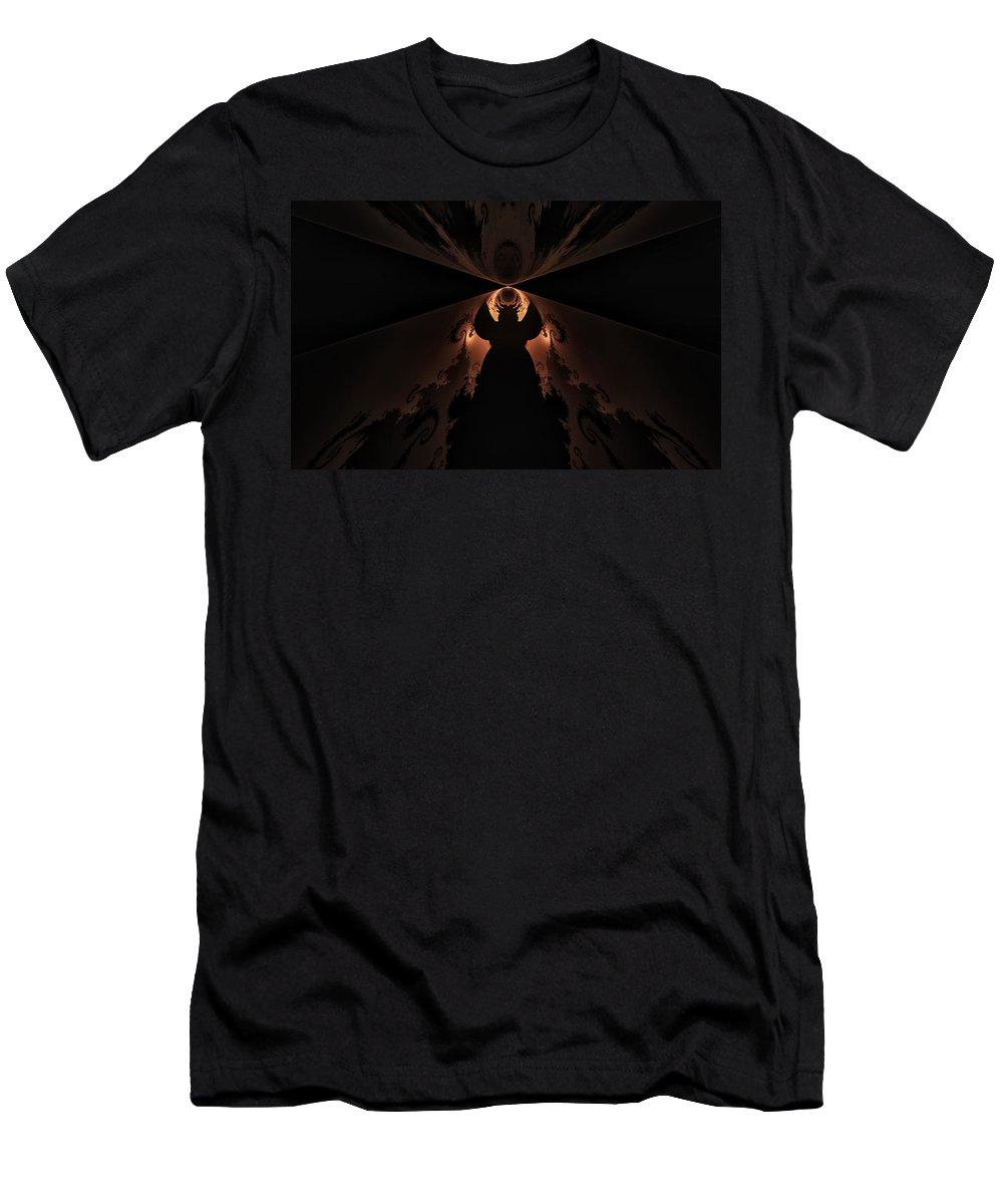 Fractal Men's T-Shirt (Athletic Fit) featuring the digital art False Prophet by GJ Blackman