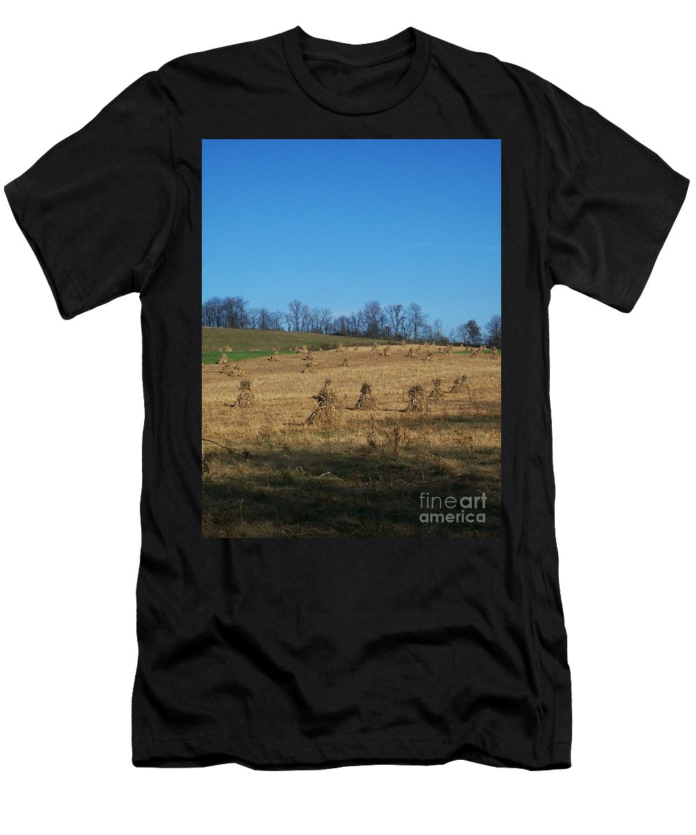Farm Men's T-Shirt (Athletic Fit) featuring the photograph Farm Days by Sara Raber
