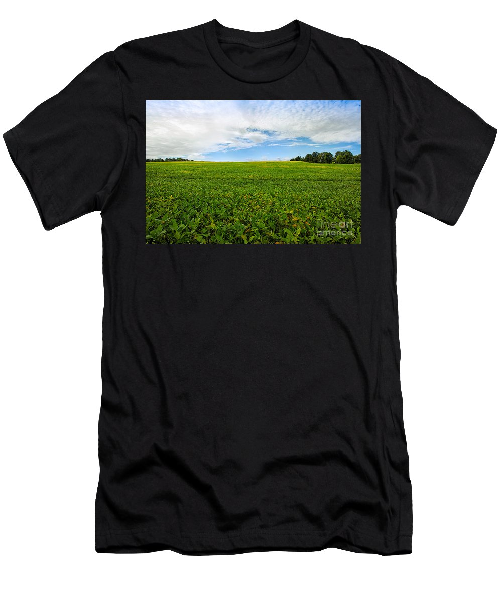 Farm Men's T-Shirt (Athletic Fit) featuring the photograph Farm Land by Mary Smyth