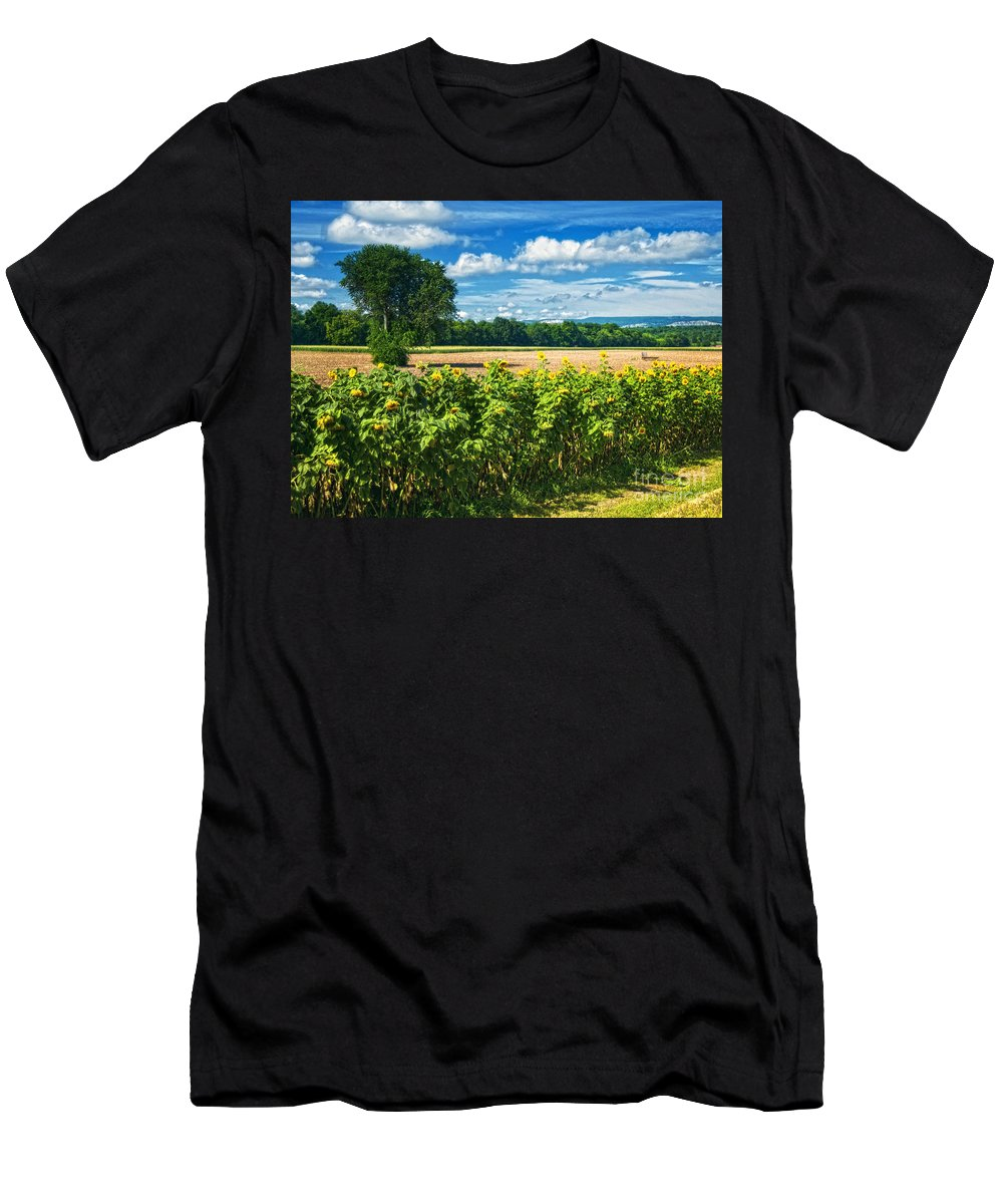 Landscape Men's T-Shirt (Athletic Fit) featuring the photograph Farmland by Claudia Kuhn