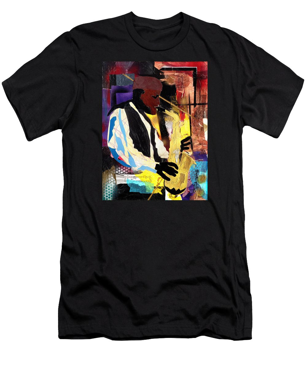 Everett Spruill T-Shirt featuring the painting Fathead Newman by Everett Spruill