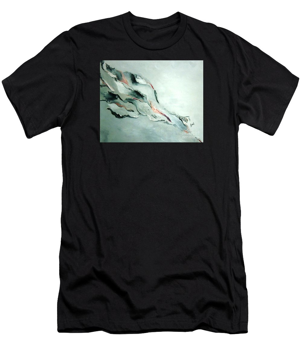 Abstract Clouds Men's T-Shirt (Athletic Fit) featuring the painting Father-part 2 by Graciela Castro