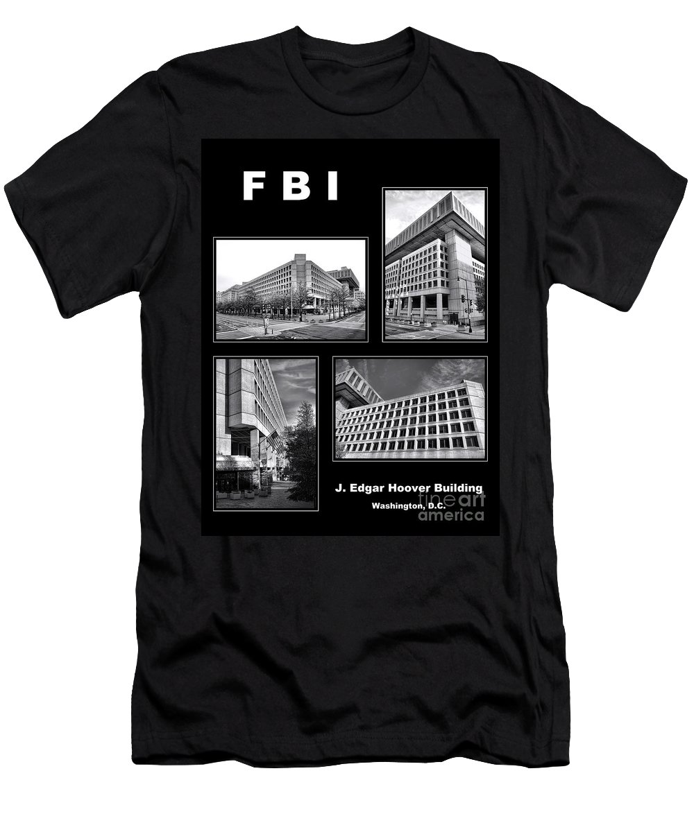 Fbi Poster Men's T-Shirt (Athletic Fit) featuring the photograph Fbi Poster by Olivier Le Queinec
