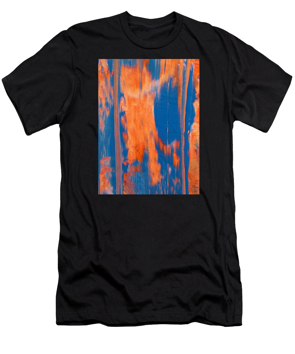Original Men's T-Shirt (Athletic Fit) featuring the painting Features by Artist Ai