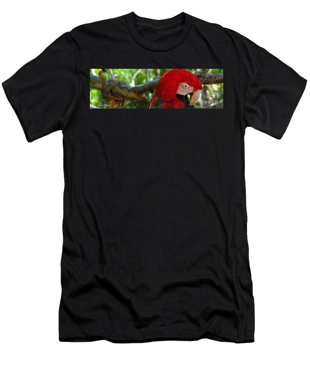 Patzer Men's T-Shirt (Athletic Fit) featuring the photograph Feeling A Little Red by Greg Patzer