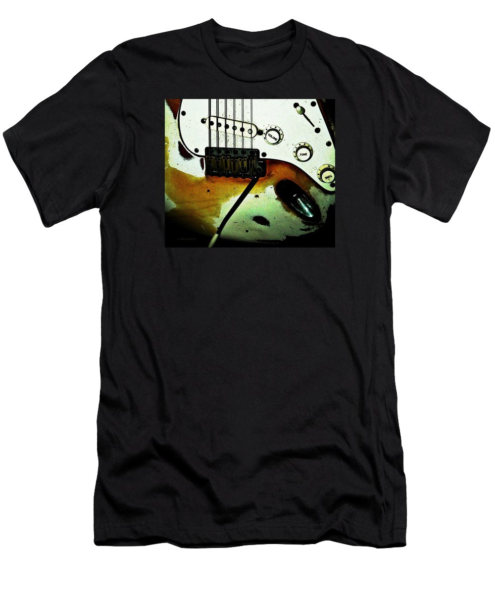 Music Men's T-Shirt (Athletic Fit) featuring the photograph Fender Detail by Chris Berry