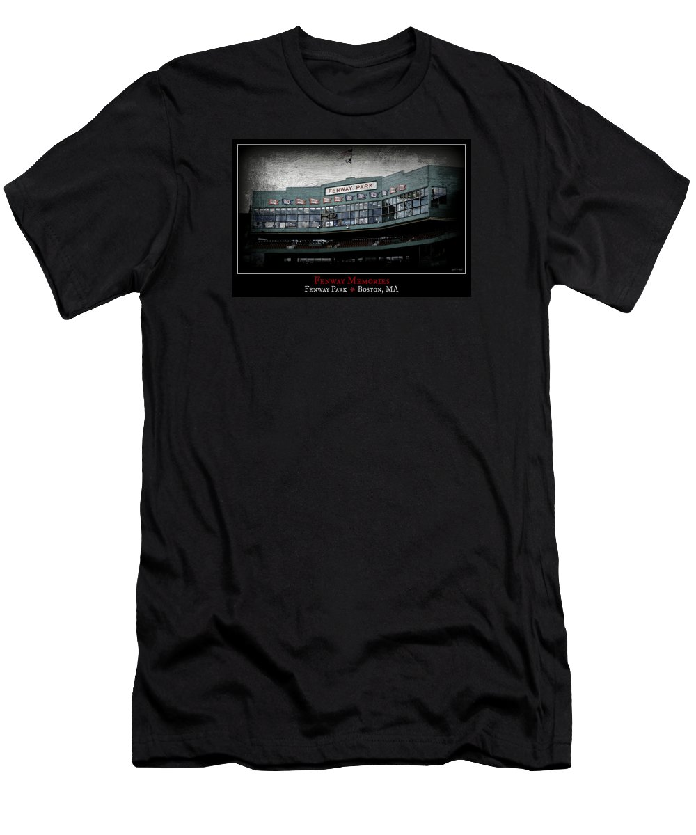 Fenway Park Men's T-Shirt (Athletic Fit) featuring the photograph Fenway Memories - Poster 1 by Stephen Stookey