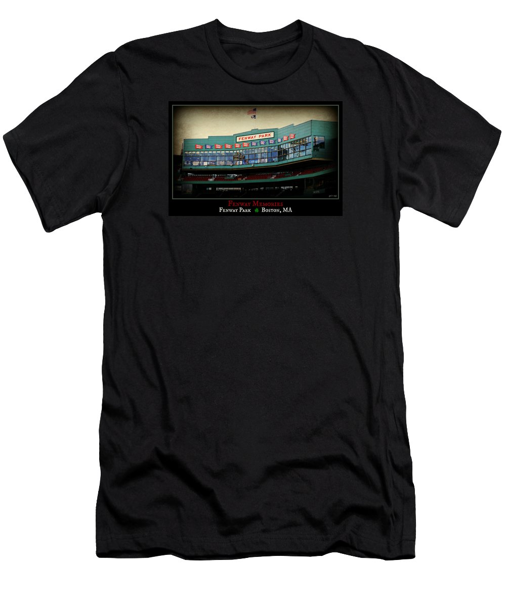Fenway Park Men's T-Shirt (Athletic Fit) featuring the photograph Fenway Memories - Poster 2 by Stephen Stookey